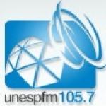 Logo da emissora Rádio Universitária UNESP 105.7 FM