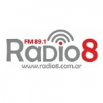 Logo da emissora Radio 8 89.1 FM