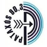 Logo da emissora Rádio Pataxós 90.3 FM