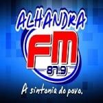 Logo da emissora Rádio Alhandra 87.9 FM