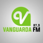 Logo da emissora Rádio Vanguarda 87.9 FM