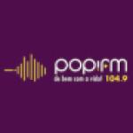 Logo da emissora Rádio Popi 104.9 FM