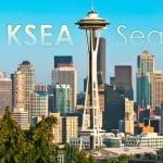 Logo da emissora Seattle KSEA Torre de Controle