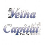 Logo da emissora Rádio Velha Capital 87.9 FM