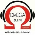 Logo da emissora Rádio Omega 87.9 FM