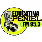 Logo da emissora Rádio Educativa Peniel FM