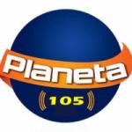 Logo da emissora Rádio Planeta 105