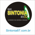 Logo da emissora Rádio Sintonia 87.9 FM