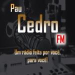Logo da emissora Rádio Pau Cedro FM