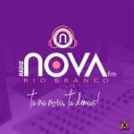 Logo da emissora Rádio Nova Rio Branco FM