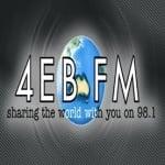 Logo da emissora Radio 4EB FM 98.1