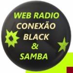 Logo da emissora Rádio Conexão Black & Samba
