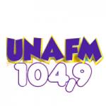 Logo da emissora Rádio Una 104.9 FM