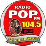 Logo da emissora Rádio Pop 104.5 FM
