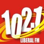 Logo da emissora Rádio Liberal 102.1 FM