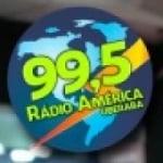 Logo da emissora Rádio América 99.5 FM