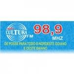 Logo da emissora Rádio Cultura 98.9 FM