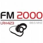 Logo da emissora Radio FM 2000 88.5 FM