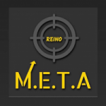 Logo da emissora Rádio Meta