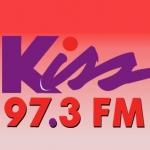 Logo da emissora WKSO 97.3 FM Kiss