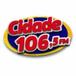 Logo da emissora Rádio Cidade 106.5 FM
