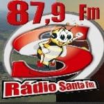 Logo da emissora Rádio Santa 87.9 FM