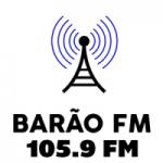 Logo da emissora Rádio Barão 105.9 FM