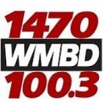 Logo da emissora Radio WMBD 1470 AM 100.3 FM