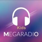 Logo da emissora Mega Rádio Kids