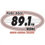 Logo da emissora WONC 89.9 FM Pure Rock