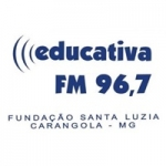 Logo da emissora Rádio Educativa 96.7 FM