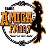 Logo da emissora Rádio Amiga 99.7 FM