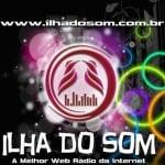 Logo da emissora Rádio Ilha do Som