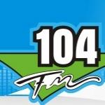 Logo da emissora Rádio 104.1 FM