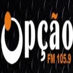 Logo da emissora Rádio Opção 105.9 FM