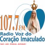 Logo da emissora Rádio Voz do Coração Imaculado 107.7 FM