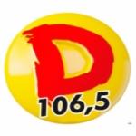 Logo da emissora Rádio Dinâmica 106.5 FM