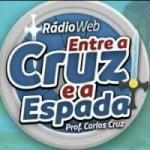 Logo da emissora Rádio Web Entre a Cruz e a Espada