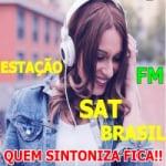 Logo da emissora Rádio Sat FM Brasil