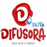 Logo da emissora Rádio Difusora 104.7 FM