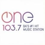 Logo da emissora Radio One 103.7 FM