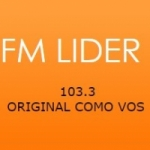 Logo da emissora Radio Líder 103.3 FM