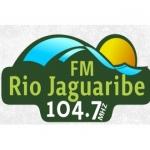 Logo da emissora Rádio Rio Jaguaribe 104.7 FM