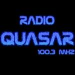 Logo da emissora Radio Quasar 100.3 FM