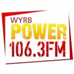 Logo da emissora Radio WYRB Power 106.3 FM