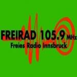 Logo da emissora Radio Freirad 105.9 FM