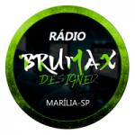 Logo da emissora Rádio Brumax Designer