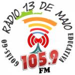 Logo da emissora Rádio Treze 105.9 FM