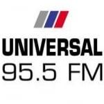 Logo da emissora Radio Universal 95.5 FM