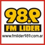 Logo da emissora Radio Líder 98.9 FM